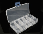 Plastic Storage Box - Removable Dividers - 132x72x23mm - Ships IMMEDIATELY from California - Case20