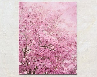 Flower Photograph, Flowering Tree Picture, Bright Pink Nursery Art, Trumpet Tree Artwork, Feminine Wall Art, Dreamy Nature Photography