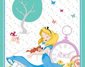 Springs - Disney Alice in Wonderland - Alice and Cat Napping Panel
