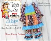 Harper Top/ Dress Girl's Sewing Pattern. Toddler Peasant Dress Pattern pdf. Girls Peasant Dress Pattern. Toddler pdf Pattern. Girls Dresses