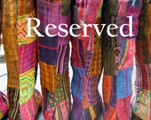 Reserved for Deb- 2nd payment for reserve Patchwork Sadie Boots,