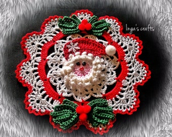 Hand crocheted Christmas doily