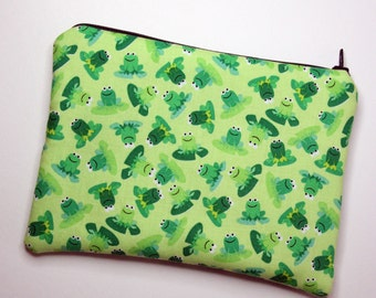 Green Frogs Cosmetics / Make up Bag