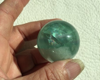 Green Fluorite Crystal Sphere, Natural gemstone,  spirituality, new age, metaphysical #2