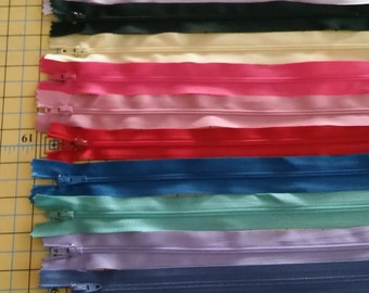 """50  13"""" and longer nylon zippers - FREE SHIPPING"""