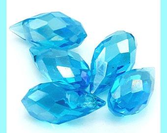 Swarovski, Swarovski Briolette, Turquoise Blue, Briolette, Blue briolette, Blue Briolette, Aqua Blue Briolette, Aqua Blue Beads, big