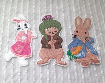 Peter Rabbit Inspired  Iron on  Appliqué Patch Choice of Character