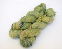 Hand Dyed Fingering, Sock Yarn Singles, 100% Superwash Merino, Simply Sheep Singles, The Grass Is Always Greener