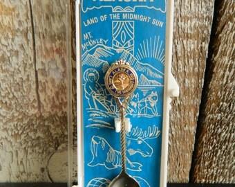 Vintage Alaska Souvenir Spoon with Case