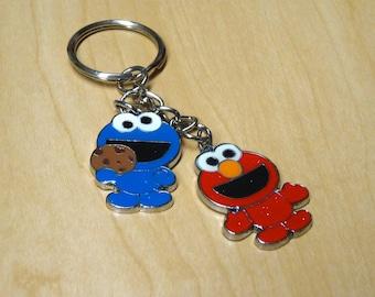 Sesame Street Cookie Monster & Elmo Charm / Keychain / Pendant
