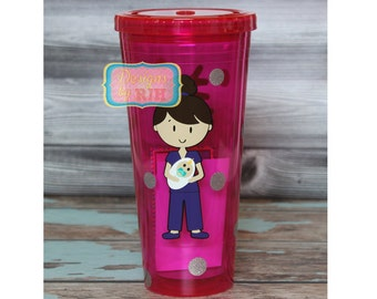 Personalized Doctor Tumbler -  Travel Cup - Great Gift Pediatrician, Dentist - Original Design by Designs by RJH - Dr. Nurse