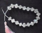 Q** Rose Quartz - Pink Gemstone - Genuine Gemstone - Precious Stones - Natural Faceted Rondelle - Approx 18 Pieces - Jewelry Beads - Beading