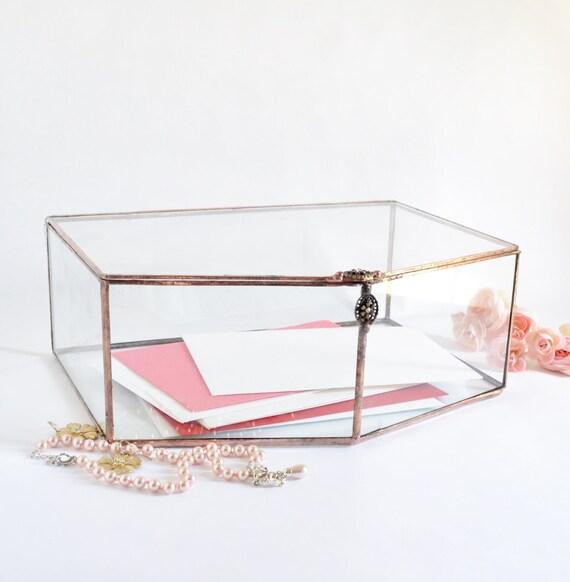 Wedding Gift Envelope Holders : Wedding Decor, Envelope Holder, Glass Box, Wedding Gift, Glass Jewelry ...