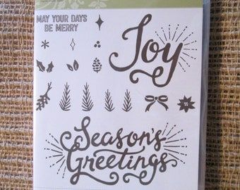 BERRY MERRY - Stampin' Up retired - Stamp Set