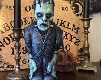 Huge Frankenstein - vintage Karloff style 2lb plastic horror figure