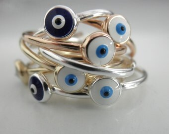 Evil eye ring  - adjustable eye ring - NEW - sterling silver evil eye ring - gold evil eye ring -  rose gold  evil eye ring -  eye ring