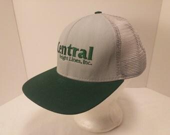Vintage 1990s Trucker Ball Cap - Central Freight Lines -  Trucking, OTR Trucker, Rockabilly, Retro, Mens Accessories