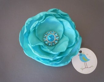 Aqua Blue Wedding Corsage, Aqua Blue Bridal Fascinator, Aqua Blue Mother of the Bride Corsage, Aqua Blue Bridal Corsage