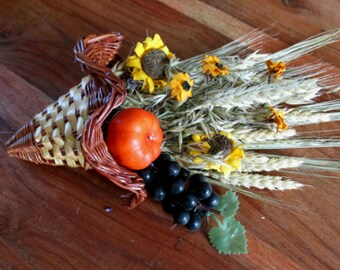 Mabon Cornucopia, Horn of Plenty Basket (with or without contents) Pagan Harvest Altar Thanksgiving.