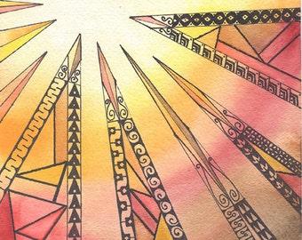 Geometric art, digital download, prints, art & collectibles, mixed media earthspalette