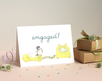 Engaged! Greetings Card
