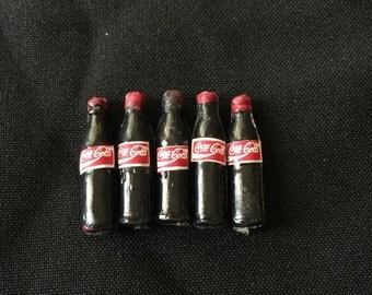 Set of 5 Mini soda  Bottles