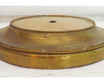 Brass Lamp Base Round Multi Tiered Beaded Rims