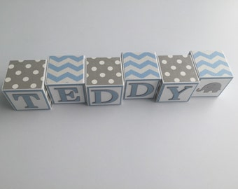 Custom Baby Name Blocks Baby Boy Girl Babies Shower Gift Newborn Nursery Decor Photography Wall Letters Personalized