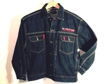 Blue Jean Jacket, US Polo Association, Authentic American Sportswear, Men's size M