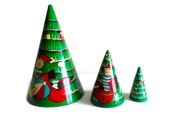 Vintage Stacking Christmas Trees