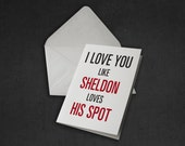Sheldon I Love You / Valentine Card - The Big Bang Theory Tv Show