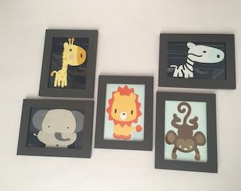 Jungle Animals, Baby Shower, Nursery Jungle Animals