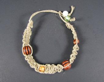 Handmade Bracelet, Hemp and Beads