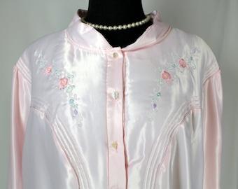 Vintage Barbizon Pink Cuddleskin Nightgown 3X Large NOS