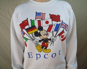 Vintage Mickey Mouse Walt Disney Epcot Sweatshirt