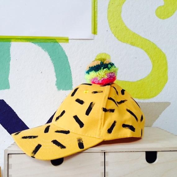 SLIDE Kids Hat Childrens Cap with Pom Pom in Wool 3-12 Years Unisex