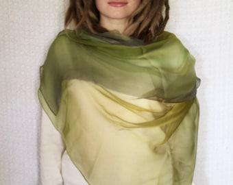 Olive Silk Scarf