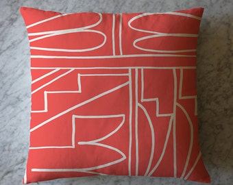 Pillow with Abstract Shapes. April 26, 2016