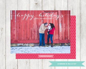 Photo Holiday Card | Printable Digital File | DIY Christmas Card