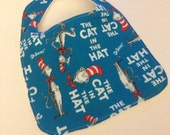 Cat in the Hat Baby bib.  Christmas baby bib, baby Bib, Cat in The Hat Bib,  Halloween bib, Baby bib, Dr. Suess bib