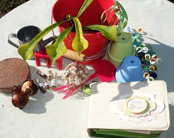 Spring Gardening Kit - Bulbs, Seeds, Clippings, & More!