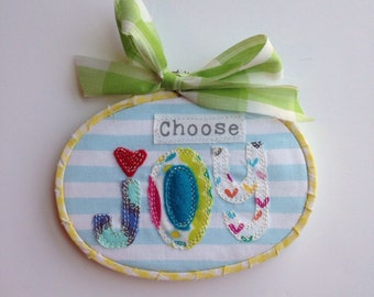 Choose Joy hoop art