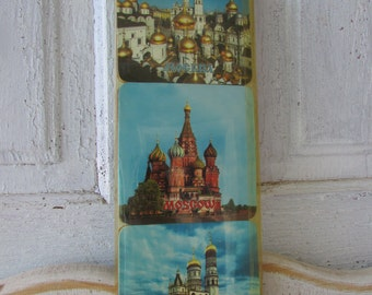 Vintage Coasters Moscow souvenir set of 6 Russia