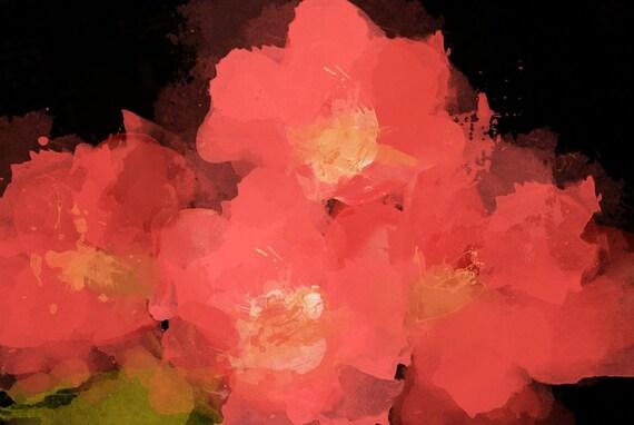 "Red Flowers Canvas Print by Irena Orlov 40"" x 30"", large floral canvas art print, wall art print, wall decor, fine art print"