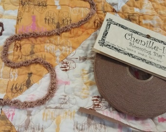 "Blooming Bias 3/8"" - Faux Chenille - by Chenille It - Cinnamon - 1 Roll (25 Yards)"