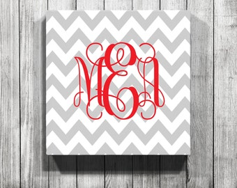 Personalized Personalized  Chevron Gallery Wrapped Canvas