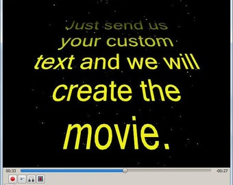 Personalized Scrolling Title Video