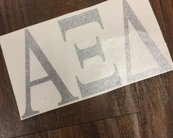 Glitter Neon Sorority Greek Sticker Vinyl Decal Big Little Tri Delta Kappa Kappa Gamma Alpha Delta Pi Alpha Xi Delta Zeta Theta Tri Sigma