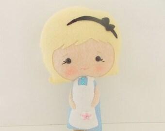 BACK 2 SCHOOL SALE Alice in Wonderland -  Large Alice Doll  - Fairy Tale Doll