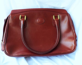 Vintage GUCCI Leather Purse Maroon Arm Bag